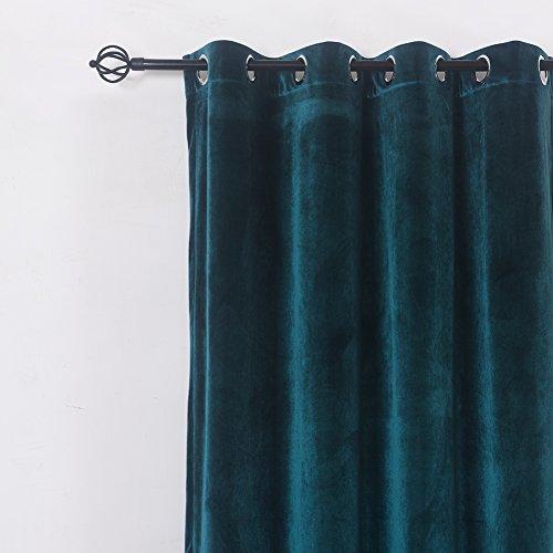 Super Soft Luxury Velvet Set Of 2 Dark Green Blackout