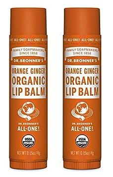 Dr. Bronners Organic Moisture Lip Balm Magic Massage Balm Lemon Lime Lip Balm, 12 Pack