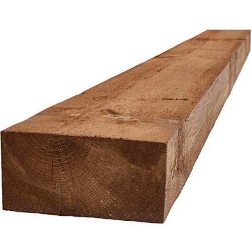 Railway Sleeper | Brown Treated | 2.4m x 100mm x 200mm | For Raised Beds, Retaining Walls, Lawn + Border Edging