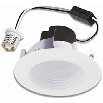 Halo Recessed LED RL460WH830PK 4 Inch Retrofit Module And Trim, White, 80  CRI, 3000K