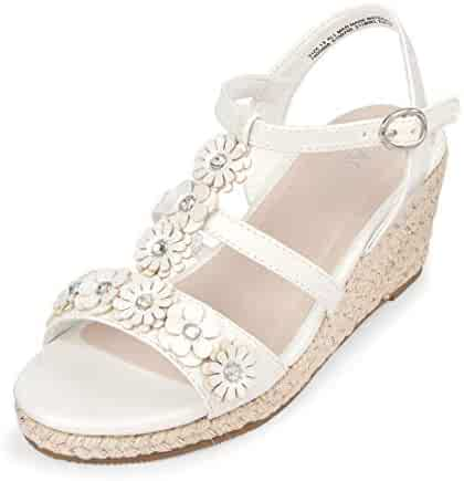 b34f82fae The Children s Place Kids  Flower Espadrille Wedge Sandal