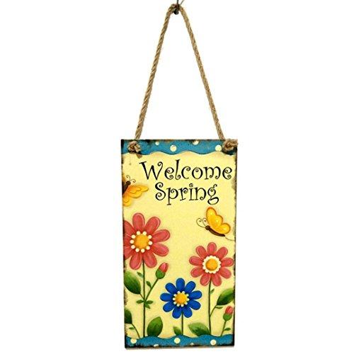 Grace Garden Bar Table - Botrong Wooden Easter Hanging Board Festival Wall Door Decor Sign Hanger for Home Shop (F)