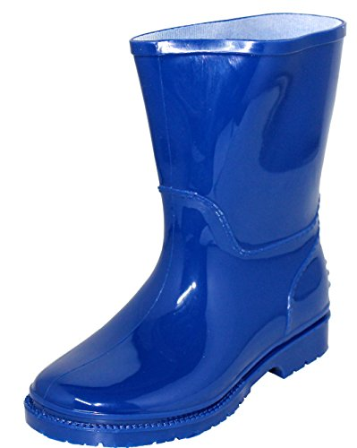 Children's Waterproof Rain Boots, Rubber Rain Shoes Sizes 5-10 (13, Royal Blue)