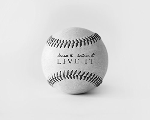 Inspirational Sports Quote Baseball Photograph Picture Home Decor Wall Art Bedroom Photo Print -