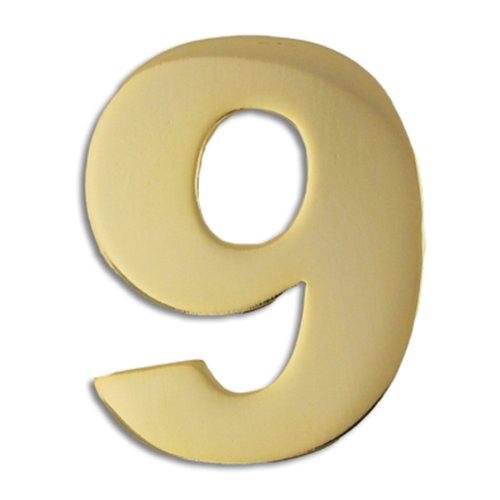 PinMart's Gold Numerical Number Nine # 9 Lapel - Number Pins