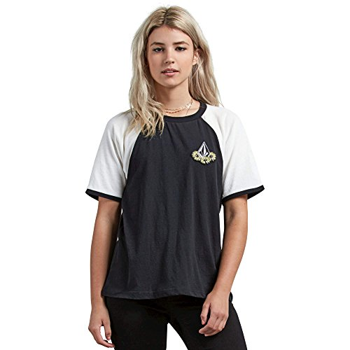 - Volcom Junior's Stage 4 Ringer Colorblocked Tee, Black Large