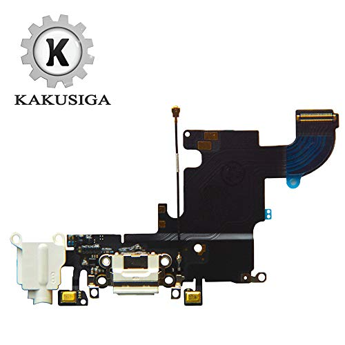 KAKUSIGA Compatible with iPhone 6s USB Charging Port Dock Connector Flex Cable + Microphone + Headphone Audio Jack Replacement for 6s ()
