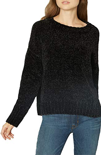 - Sanctuary Women's Chenille Pullover Sweater Black X-Large
