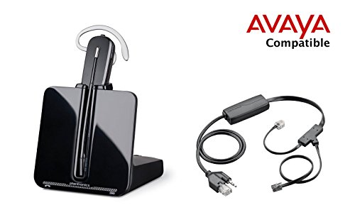 Avaya Compatible Plantronics CS540 VoIP Wireless Headset Bundle with Electronic Remote Answer|End and Ring alert (EHS) for Avaya Phones: 2420 4610 4610SW 4620 4620SW 4621 4621SW 4622 4622SW 4625 4625SW 4630SW 5420 5610 5620 5621