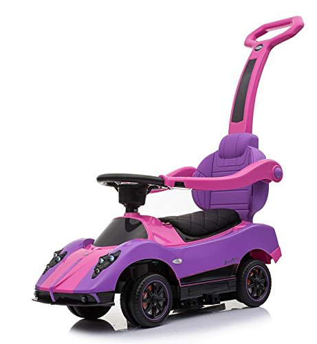 Electric Kids Stroller Push Car, Licensed Pagani Multi Function 6V Kids Drive-able Ride on (Car Licensed)