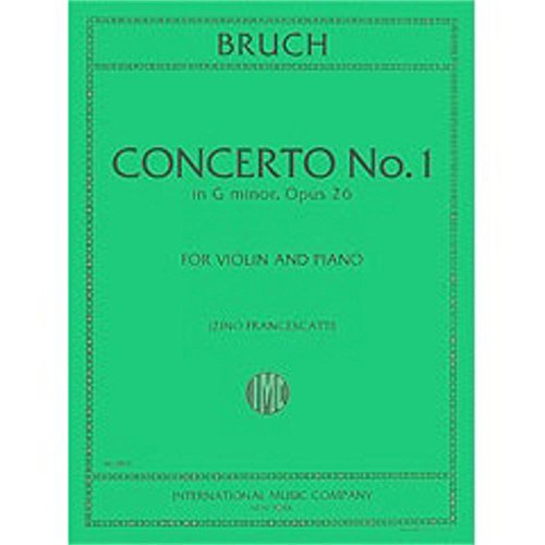 International Music Co. Brusch Concerto No. 1 in G minor, Opus 26 (Violin and Piano)
