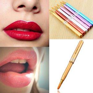 OLIVE US-New Makeup Women Portable Retractable Cosmetic Lip Brush Lipstick Gloss Beauty OL-156