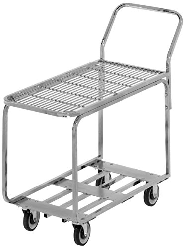 (Channel Manufacturing STKC200 Chrome Plated Steel Stocking Truck with Wire Deck - 44