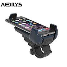 Bike Mount , AEDILYS Universal Cell Phone Bicycle Handlebar & Motorcycle Holder Cradle for iPhone 6 6(+) 6S 6S plus 5S 5C 4S, Samsung Galaxy S5 Note 2 Note 3 Note 4,Nexus 5,HTC,LG,BlackBerry