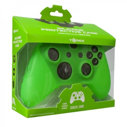 Tomee Silicone Skin Protective Case for Xbox One Controller (Green)