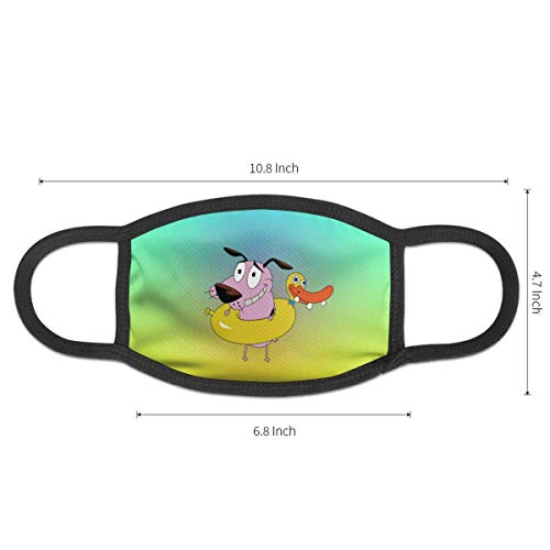 Dust Mask Cowardly Dog Cartoon Antiviral Face Mask Cover Anti-dust Reusable Windproof Half Face Mouth Warm Masks for Ski Bicycle Cycling Motorcycle Women Men