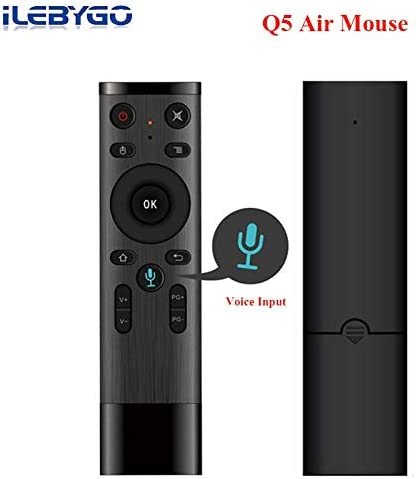 Calvas 4pcs//lot Q5 Mini Keyboard Bluetooth Voice Remote Control For Smart TV Android Box IPTV Wireless 2.4G Air Mouse With USB Receiver Color: Bluetooth and Voice