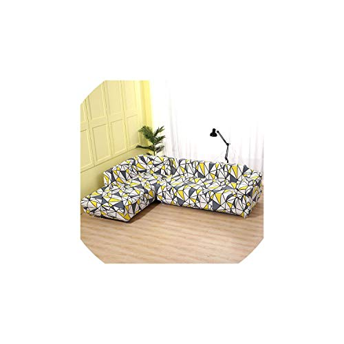 Sofa coverElastic Sofa Cover Cotton It Needs Order 2 Pieces Covers for L-Shape Corner Sectional Sofa Cover for Living Room Solid Color,Color 11,2seater and 3seater ()