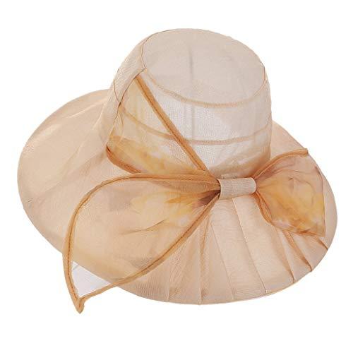 Pengy Women's Rose Flower Hat Casual Kentucky Derby Fascinator Cap Bridal Tea Summer Beach Vocation Hat
