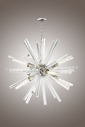 29 Inch Clear Crystal Axis Luxury Chandelier Lucite Sputnik Hanley 9 Light Ceiling Lamp