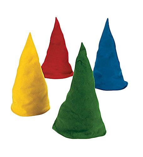 [Felt Gnome Hats - Set Of Dozen Felt Gnome Hats In Assorted Colors] (Gnome Hat)