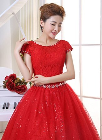 Hochzeitskleid Bodenlang Schulter Eyekepper Groesse Rot Doppelte S4pa8wf