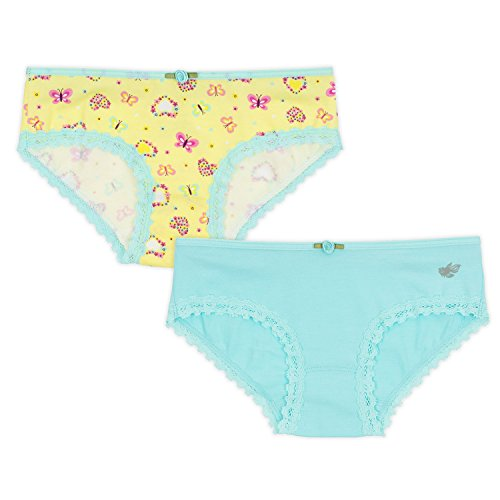 Lucky & Me Ava Little Girls Bikini Underwear, Butterfly Kisses Print, 6 Pack, Tagless, Soft Cotton, 2/3 by Lucky & Me (Image #4)