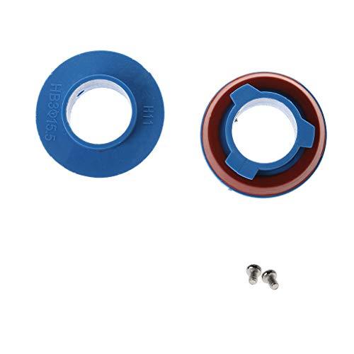 Autone 2pcs LED Headlight Bulb Base Adapter Socket Holder 880/HB4/HB3/H11/H7/H4/H3/H1 for Car Halogen Headlamps