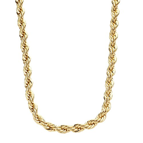 Luxury Rope Chain Necklace - 14k Gold Plated - 4mm, 30