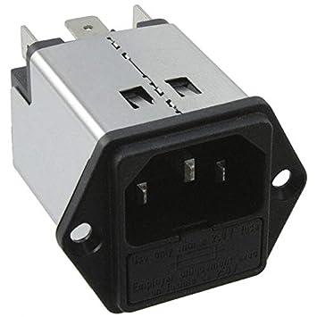 5200.1023.1 PWR ENT MOD RCPT IEC320-C14 PNL Pack of 2