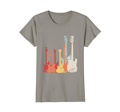 Womens Rock Band Guitar Retro Vintage T Shirt Large Slate 50's Style Rock N Roll