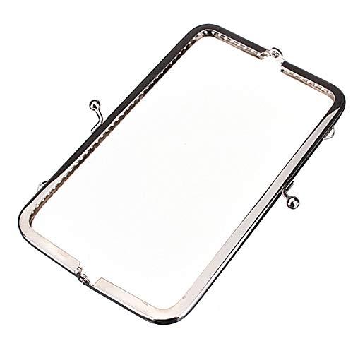 Blue Stones 3pcs 15cm Cute Useful Metal Silver Sewing Handbag Handle Clutch Coin Purse Frame Kiss Clasp Arch for Bag Accessories DIY Hasp