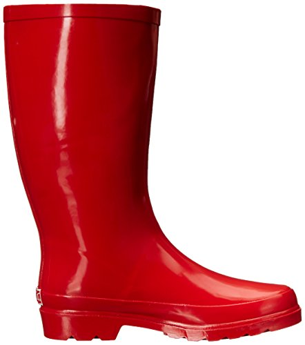 Women's Waterproof Rainboot Rubber Calf Red Mid Sugar Robby gSwIdxqWO