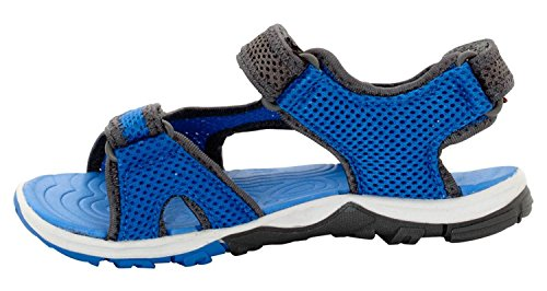Jack Wolfskin Boys Puno Bay Splash Air Mesh Summer Hydro Beach Sandals Wave Blue