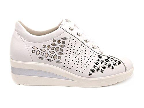 MELLUSO Baskets Pour Femme Blanc Bianco/Argento