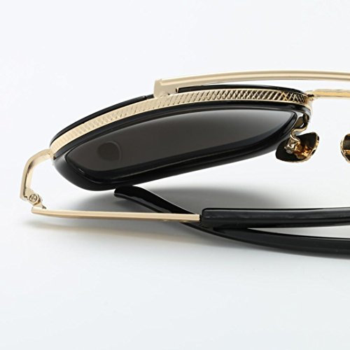 Familizo D Quadrate 13 F Classiques Soleil Jambes Verres 0cm Lunettes Femmes Miroir Hommes Mode de Longueur FrqF68