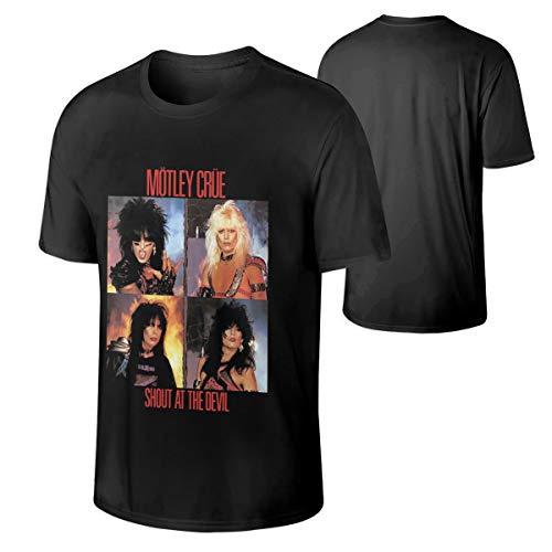 Motley Crue Shout at The Devil Casual Men's Tops Short Sleeve T Shirt XL Black