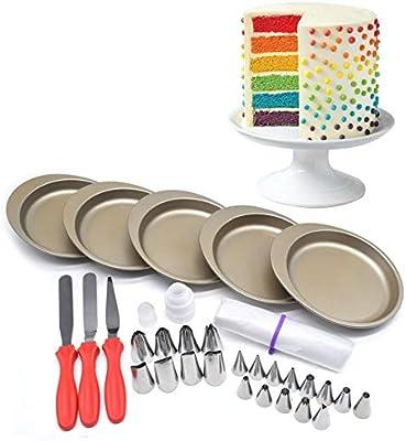 AK arte menaje Rainbow tarta de cumpleaños 5 pcs 6 inch Cake ...