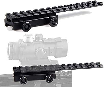 QD Rifle 30MM Riser Base Scope Mount 20MM Picatinny Weaver Rail for Hunting