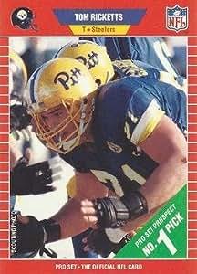 1989 PRO SET # 510 TOM RICKETTS STEELERS FOOTBALL CARD