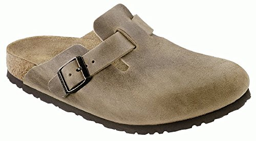 Birkenstock womens Boston in Tabacco Brown from Leather C...