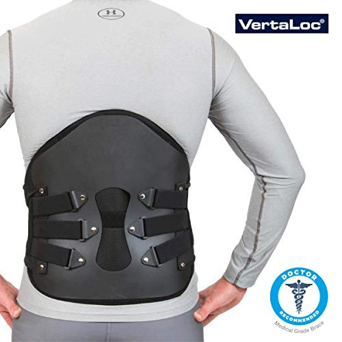 a1a9c08fb1 VertaLoc Pro Plus Medical Grade Back Brace and Support for Lower Back Pain  - Large