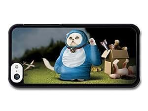 MMZ DIY PHONE CASEAMAF ? Accessories Funny Cosmic Cat In A Blue Costume case for iphone 5c