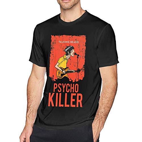 Macalai Talking Heads Psycho Killer Men's Short Sleeve T-Shirt Black ()