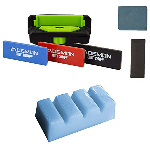 Demon United Elite X Ski and Snowboard Edge Combo Package (with 1.06 lb. Wax) ()