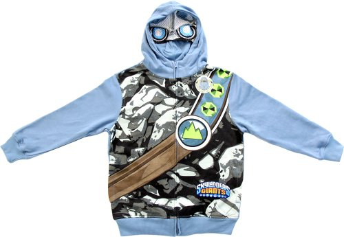Skylanders Giants Boys Storm Blue Zip Up Costume Hoodie Sweatshirt (Boys 4)
