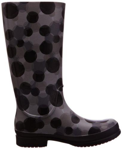 Bottes Wellie Dot Boot W black smoke Polka Gris Crocs Femme FdwBXqq