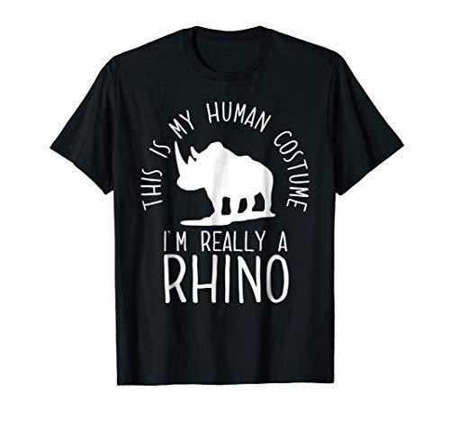 Funny Human Costume Rhino T-Shirt ()
