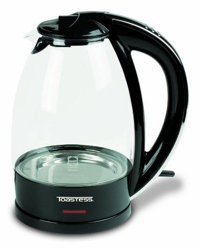Toastess TGK760 Cordless Electric Glass Kettle, 1.7-Litre