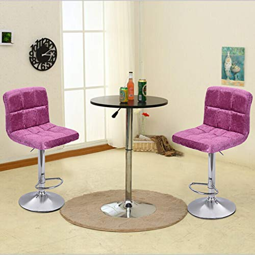 Luonita 2 -Pack Modern Square Velvet Adjustable Bar Stools with Back,Armless Kitchen Counter Bar Stools Barstools Bar Chairs Dining Chairs Shipping from CA.,NJ. (Furniture Nj Bar)
